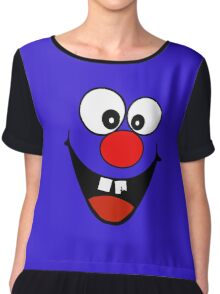 Cracked Tooth - Big Red Nose Cartoon Head Decal Kids Bag Tee Chiffon Top
