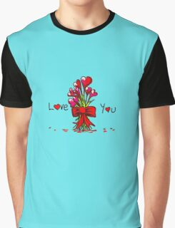 Love You Flowers Graphic T-Shirt