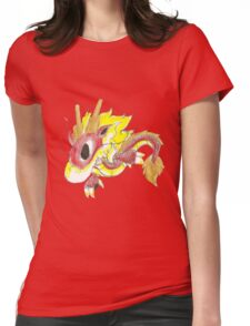 Playful Fire Hatchling Womens Fitted T-Shirt
