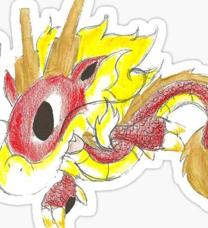 Playful Fire Hatchling Sticker