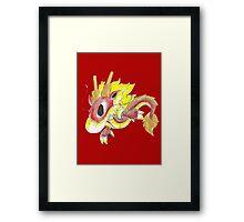 Playful Fire Hatchling Framed Print