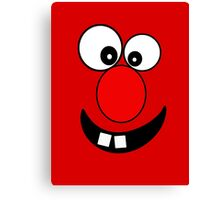 Funny Cartoon Face Kids T-Shirt and Sticker Canvas Print