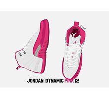 Jordan Dynamic Pink 12's Photographic Print