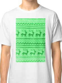 Ugly Christmas Sweater Pattern Classic T-Shirt