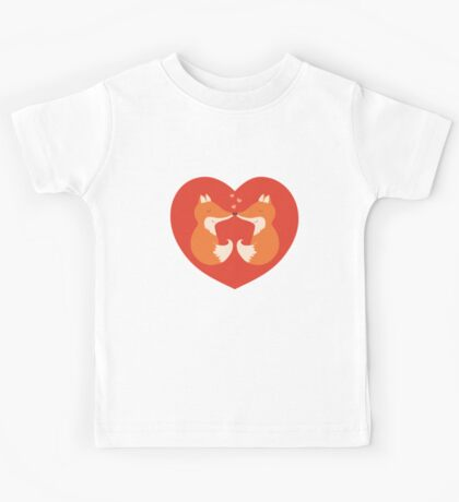 Lovers foxes. Kids Tee