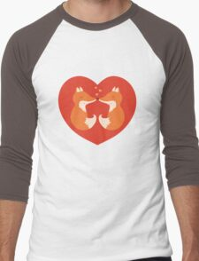 Lovers foxes. Men's Baseball ¾ T-Shirt