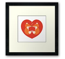 Lovers foxes. Framed Print