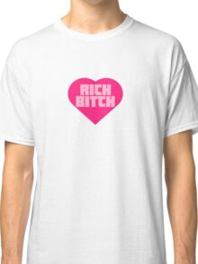 Rich Bitch Zef Heart Classic T-Shirt