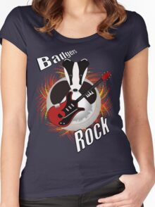 Badgers rock with text Women's Fitted Scoop T-Shirt
