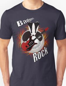 Badgers rock with text Unisex T-Shirt