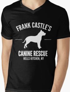 Frank Castle - Dog Rescue Mens V-Neck T-Shirt
