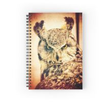 Great Horned Owl Vintage Portrait Spiral Notebook