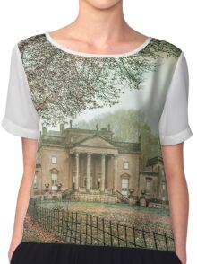 Atmospheric old house in England Chiffon Top