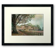 Atmospheric old house in England Framed Print