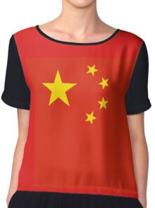 China Flag Sticker - Big Red Chinese Duvet Cover - Sport Team T-Shirt Chiffon Top