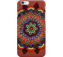mandala: burnt orange & lavender iPhone Case/Skin