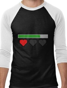 Last Life Retro Hearts Men's Baseball ¾ T-Shirt