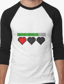Last Life Retro Hearts Men's Baseball ¾ T-Shirt