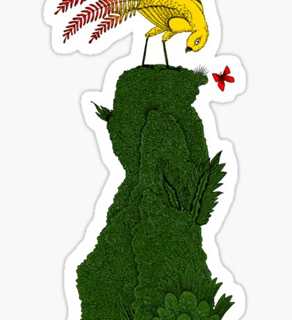 Mythical bird on Mountain top Sticker