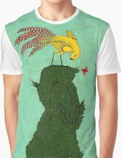 Mythical bird on Mountain top Graphic T-Shirt