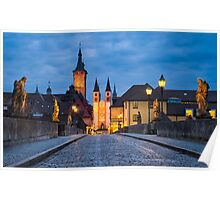 Blue Hour in Wuerzburg Poster