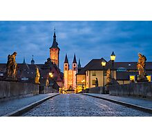 Blue Hour in Wuerzburg Photographic Print