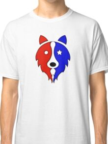 Solid Star Spangled Collie Classic T-Shirt