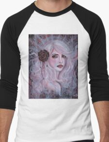 Prynn abstract fantasy portrait by Renee Lavoie Men's Baseball ¾ T-Shirt