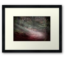 Magical forest scene Framed Print