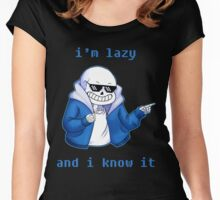 Lazy and I know it Women's Fitted Scoop T-Shirt