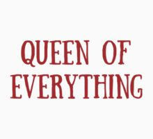 Queen of Everything (All Red) Baby Tee