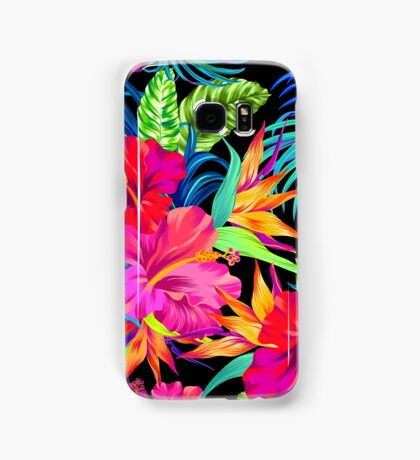 Drive You Mad Hibiscus Pattern Samsung Galaxy Case/Skin
