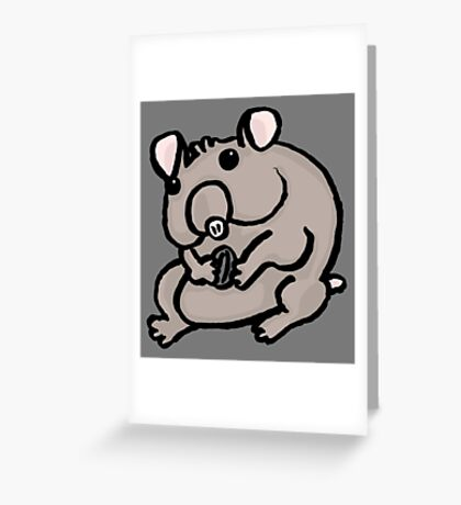 Hungry Hamster Greeting Card