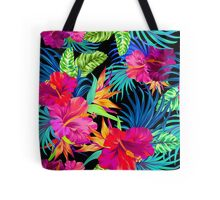 Drive You Mad Hibiscus Pattern Tote Bag