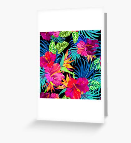 Drive You Mad Hibiscus Pattern Greeting Card