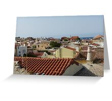 Across the rooftops Greeting Card