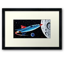 X-7 MOON ROCKET Framed Print