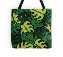 Monstera Leaf Pattern Tote Bag