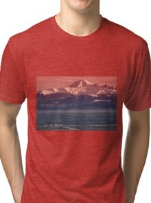 Majestic Mt Baker and downtown Vancouver Tri-blend T-Shirt