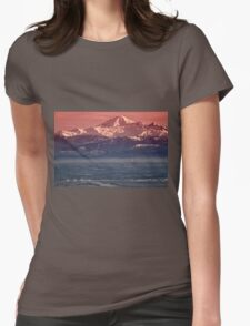 Majestic Mt Baker and downtown Vancouver Womens Fitted T-Shirt