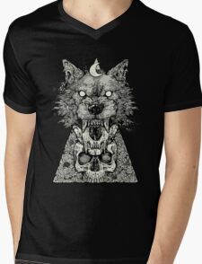 Shape Shift Black Mens V-Neck T-Shirt