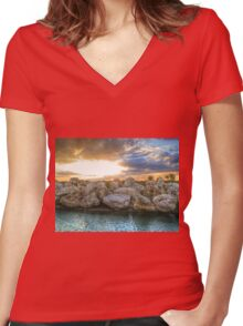After the storm HDR Women's Fitted V-Neck T-Shirt