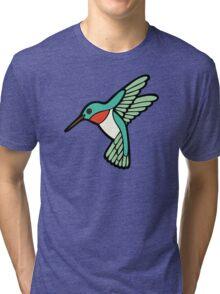 Hummingbird Pattern  Tri-blend T-Shirt
