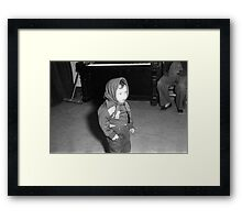 1940s Found Photo Halloween Card - Hooded Child Framed Print