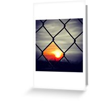 Black Sunset Greeting Card