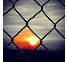 Black Sunset Photographic Print
