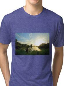 Gatun lakes jungle Tri-blend T-Shirt