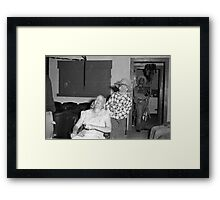 1940s Found Photo Halloween Card - Masked Partiers 2 Framed Print
