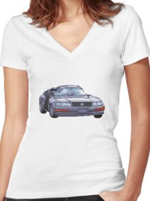 Street Fighter II Car Women's Fitted V-Neck T-Shirt