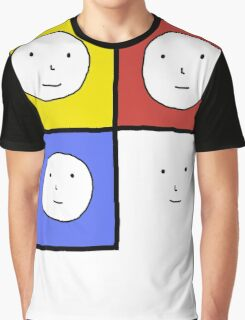 Tri Color 4 Face Design | Many Faces Series Graphic T-Shirt